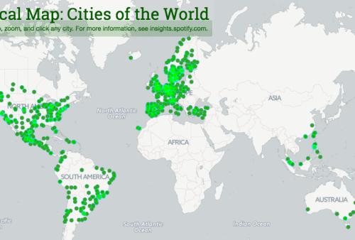 Les chansons les plus écoutées dans le monde, ville parville