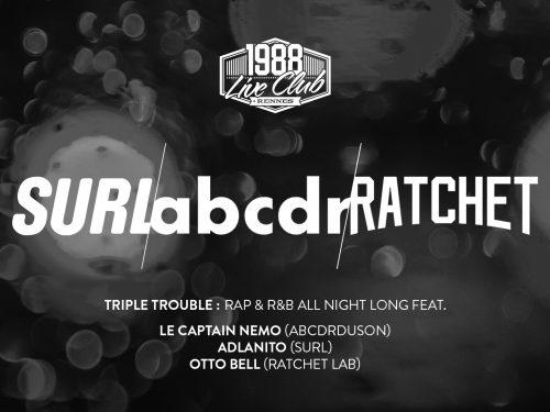SURL, Ratchet Lab et l'Abcdr s'associent pour une soirée àRennes