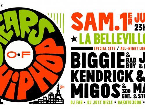 Biggie, Jay-Z, Kendrick & Migos à l'honneur pour les 30 years of HipHop