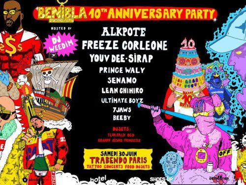 Benibla fête ses dix ans au Trabendo le 30juin